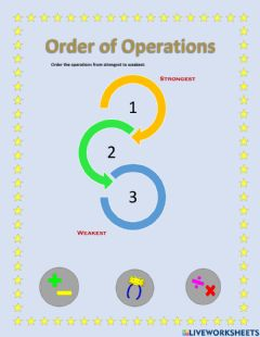 Interactive worksheet Order of operations