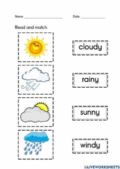 Interactive worksheet Weather