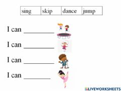 Interactive worksheet I can