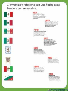 Interactive worksheet Bandera de mexico