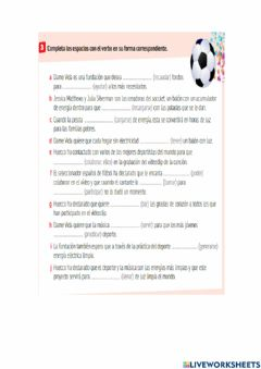 Interactive worksheet Repaso lección 3 y 4