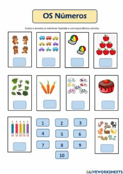 Interactive worksheet Números até 10