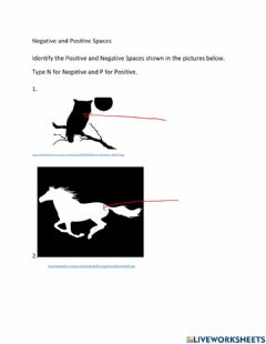 Interactive worksheet Positive and Negative Space