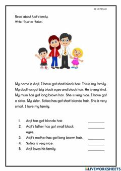 Interactive worksheet Unit 1: Welcome!