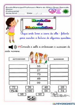 Interactive worksheet Revisão