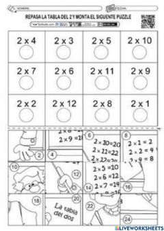 Interactive worksheet Calculo mental