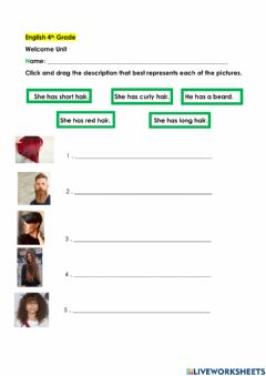 Interactive worksheet What does he-she look like?