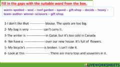 Interactive worksheet Answer the following