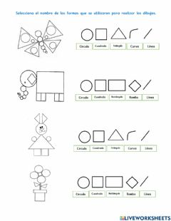 Interactive worksheet Dibujos con formas en Paint