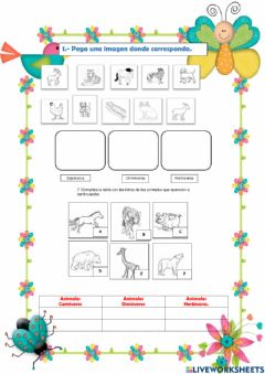 Interactive worksheet Animales segun su alimentacion