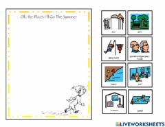 Interactive worksheet Oh the places you'll go