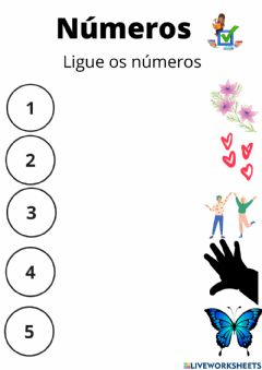 Interactive worksheet Ligue os numeros