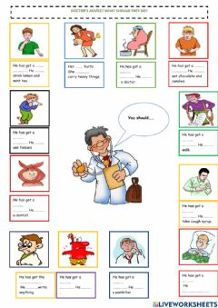 Interactive worksheet At the doctor