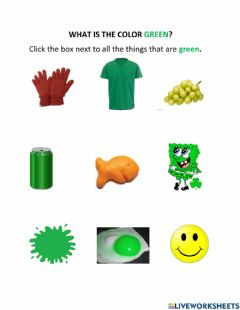 Interactive worksheet What is the Color Green?