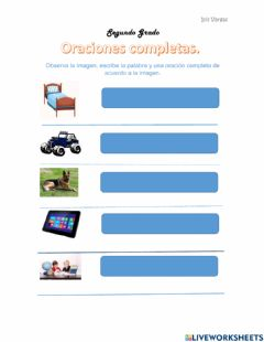 Interactive worksheet Oraciones Completas