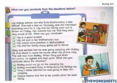 Interactive worksheet Year 6-TB-page19-Make conclusions from the situations below