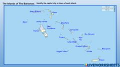 Interactive worksheet Capital Cities and Towns of The Bahamas