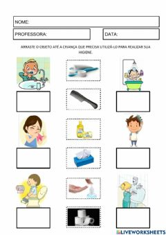 Interactive worksheet Objetos de higiene