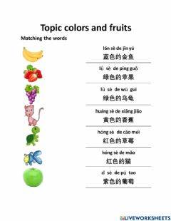 Interactive worksheet Fruits and Colors