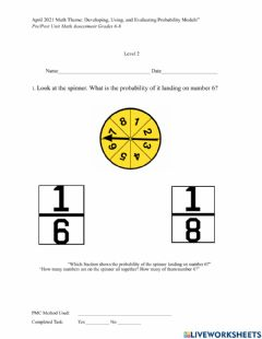 Interactive worksheet April Math Level 2