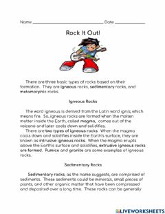Interactive worksheet Rock it Out!