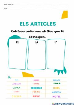 Ficha interactiva Articles