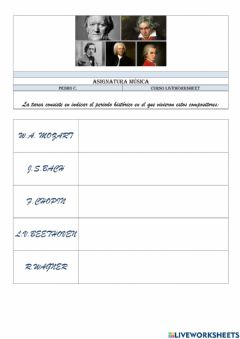 Interactive worksheet Compositores