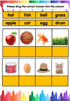 Interactive worksheet Phonic a-h