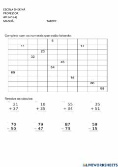 Interactive worksheet Contagem