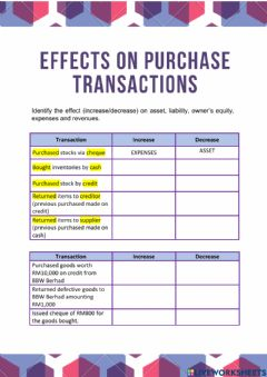 Ficha interactiva Chapter 3 - Accounting Effects on Purchases