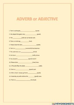 Ficha interactiva Adverbs and adjectives