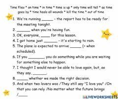 Interactive worksheet Time idioms