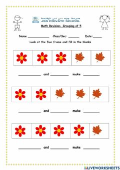 Interactive worksheet Grouping