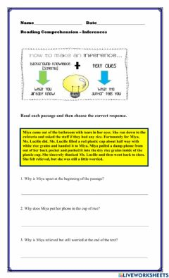 Interactive worksheet Inference