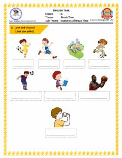 Interactive worksheet Tugas Online for Third Grade
