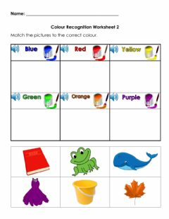 Interactive worksheet Colour Recognition Worksheet 2