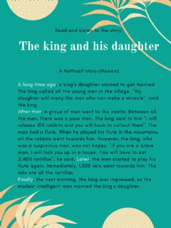 Ficha interactiva The king and his daughter