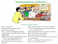 Interactive worksheet This-that-those-these-possessive 's
