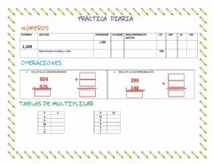 Interactive worksheet Práctica diaria -2