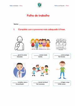 Interactive worksheet Os pronomes pessoais do caso reto
