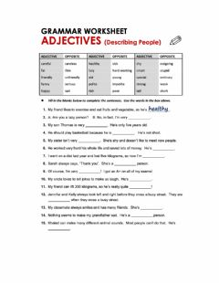 Ficha interactiva Adjectives to describe people-s character
