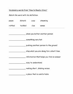 Interactive worksheet -How to Read a Story- vocabulary