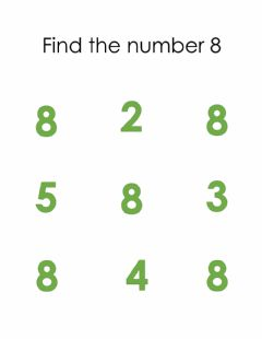 Interactive worksheet Finding number 8