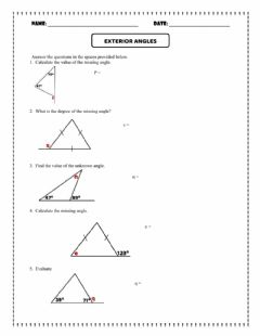 Interactive worksheet Exterior Angles