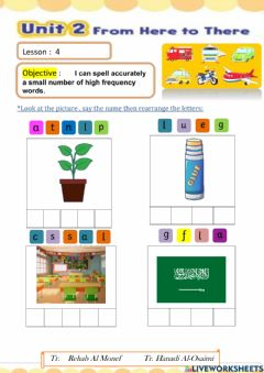 Interactive worksheet We Can 4 Unit 2 Lesson 4