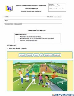 Interactive worksheet Grammar and vocabulary. 5th inter