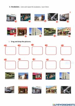 Interactive worksheet Places in a city