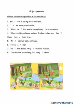 Interactive worksheet U2 Object pronouns