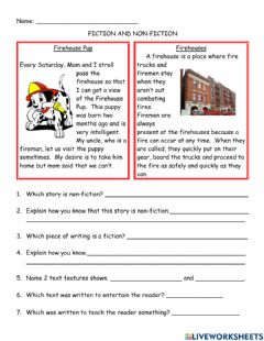 Interactive worksheet Fiction and Non-Fiction