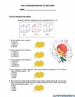 Interactive worksheet Volume Kubus